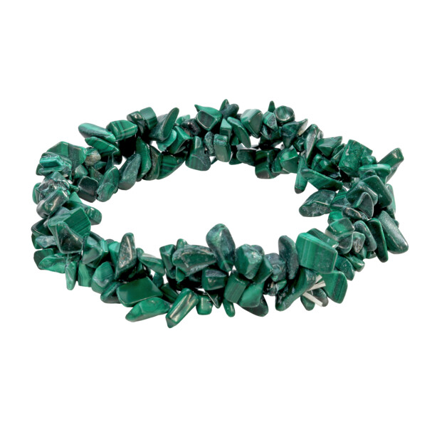 Closeup photo of Malachite Triple Weave Bracelet