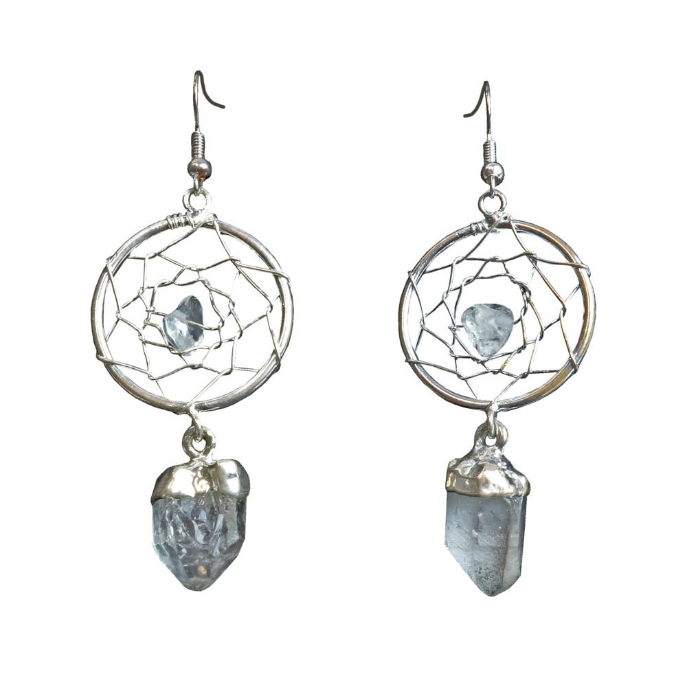 Quartz Dreamcatcher Earrings