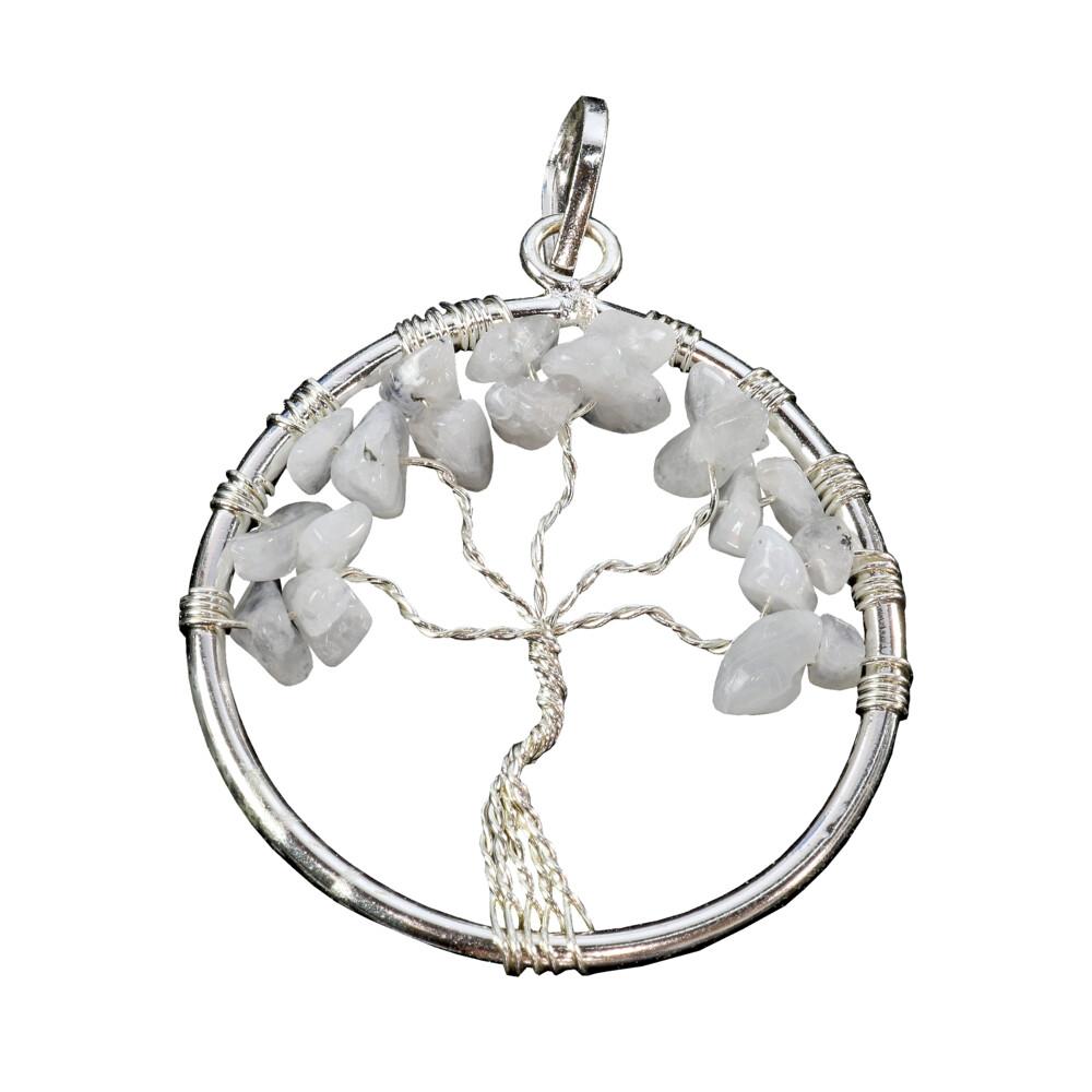 Rainbow Moonstone Tree Of Life Pendant