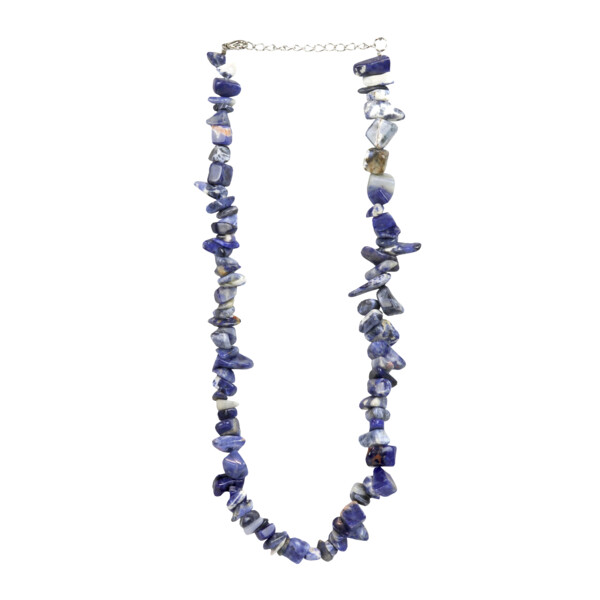 Closeup photo of Sodalite Chunky Chip Necklace Choker