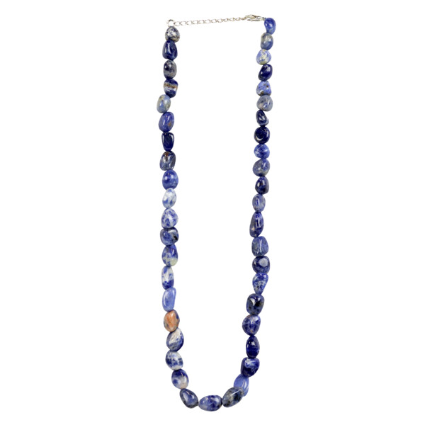 Closeup photo of Sodalite Necklace Tumbled