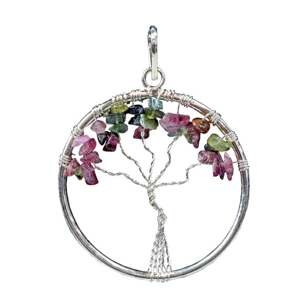 Multi Tourmaline Tree Of Life Pendant