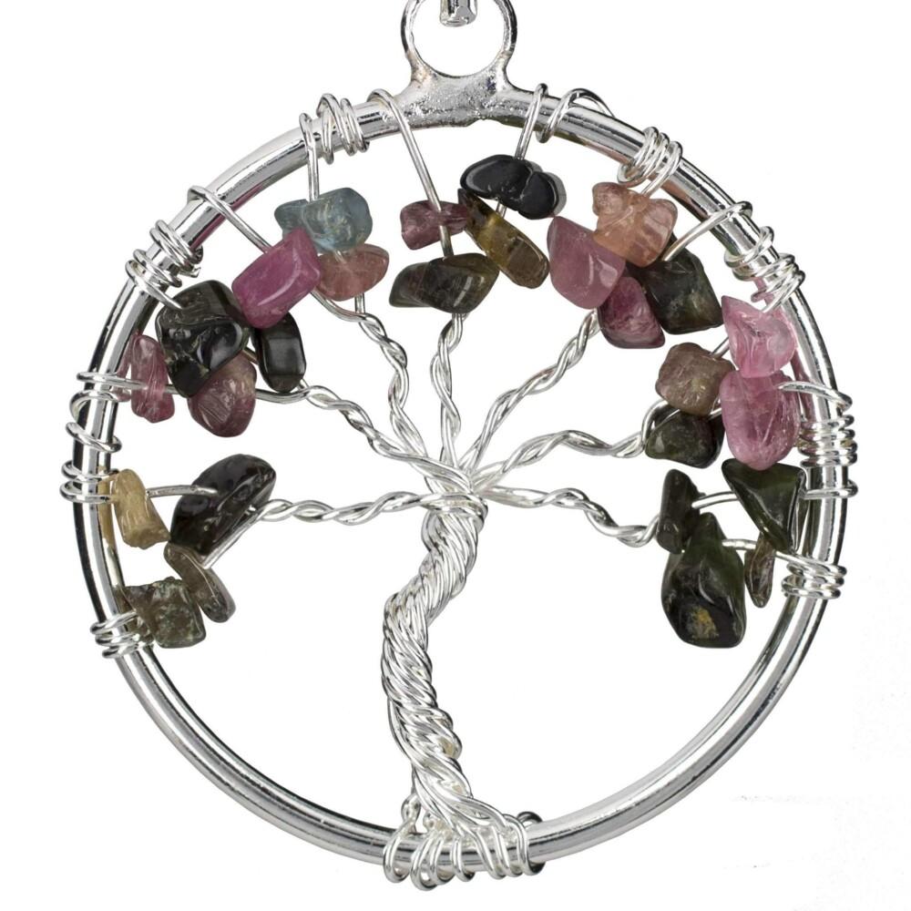 Image 2 for Multi Tourmaline Tree Of Life Pendant