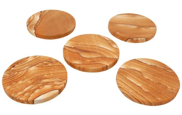 Closeup photo of Round Desert Sandstone Coaster
