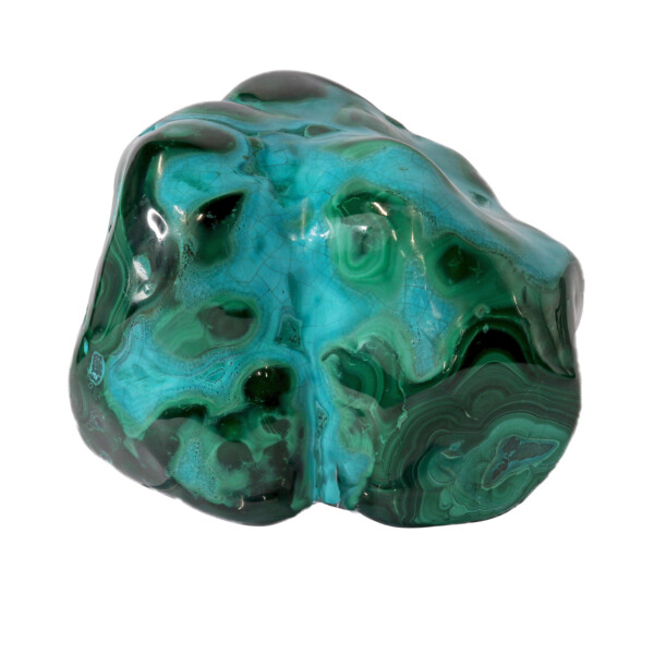 Closeup photo of Chrysocolla Malachite Polished Xq -Freeform Medium Large
