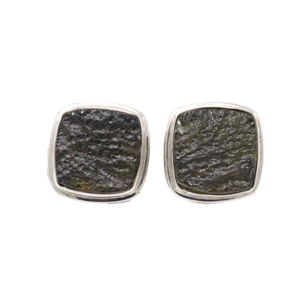 Moldavite Cufflinks