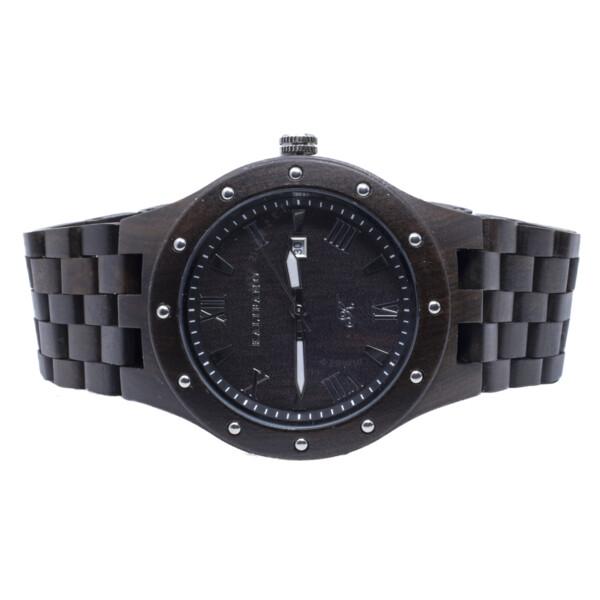 Closeup photo of Black Sandalwood Watch With Bamboo Box