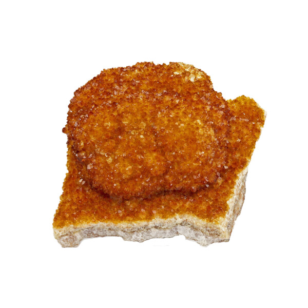Closeup photo of Citrine Druze Cluster Plaque With Acrylic Stand