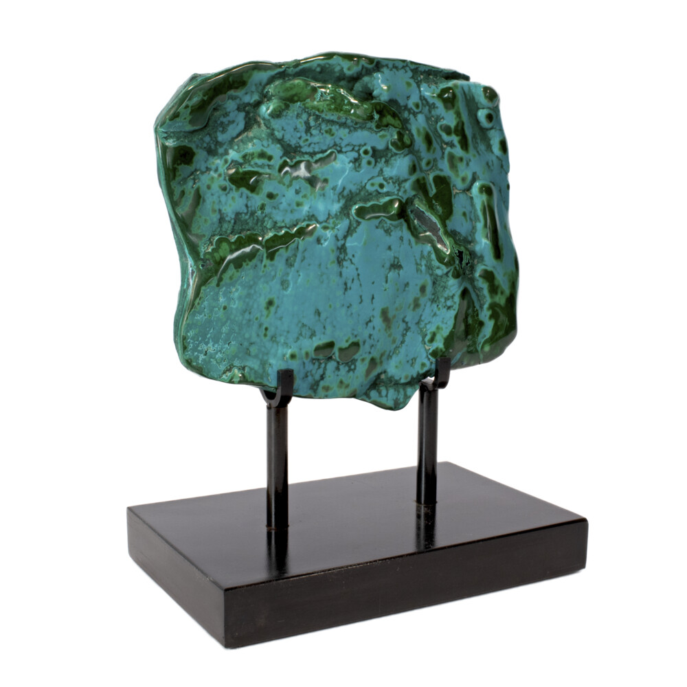 Chrysocolla Malachite On Custom Stand -Polished