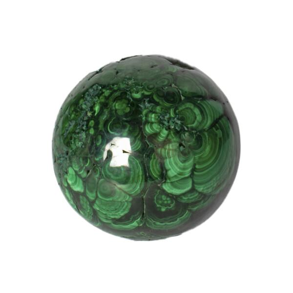 Closeup photo of Malachite Sphere Polished