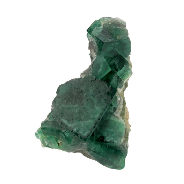Closeup photo of Green Cubic Fluorite Cluster