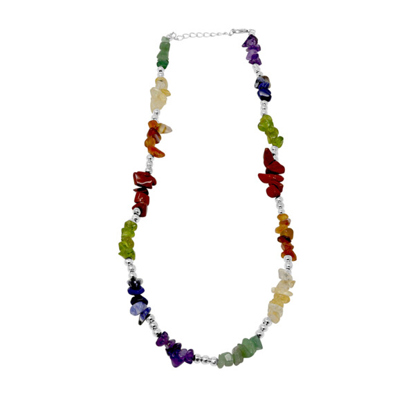 Closeup photo of 7 Chakra Chip Necklace