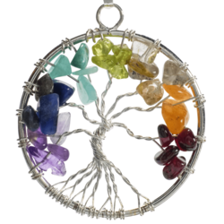 Closeup photo of 7 Chakra Tree Of Life Pendant