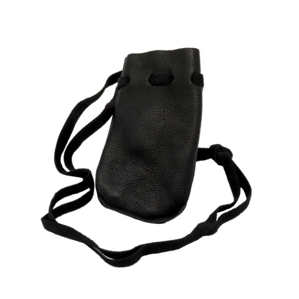 Closeup photo of Black Leather Pouch