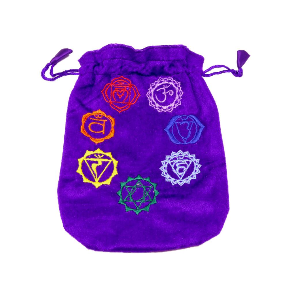 7 Chakra Purple Pouch