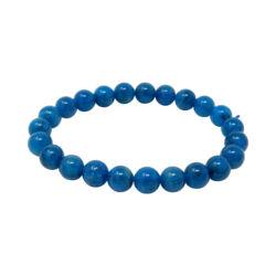 Closeup photo of Blue Apatite Bracelet 8 - 9mm