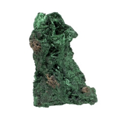 Closeup photo of Chatoyant Malachite Specimen - Fiberous
