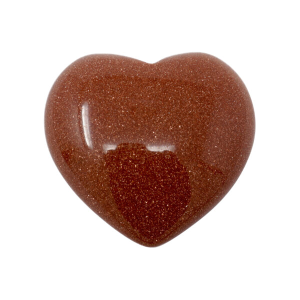 Closeup photo of Red Goldstone Heart 30mm