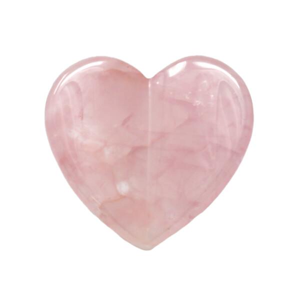 Closeup photo of Rose Quartz Heart -Flat V