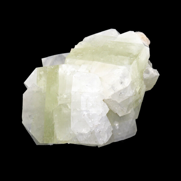 Closeup photo of Apophyllite (Zeolite) Cluster -Green Band With Stilbite Inclusion