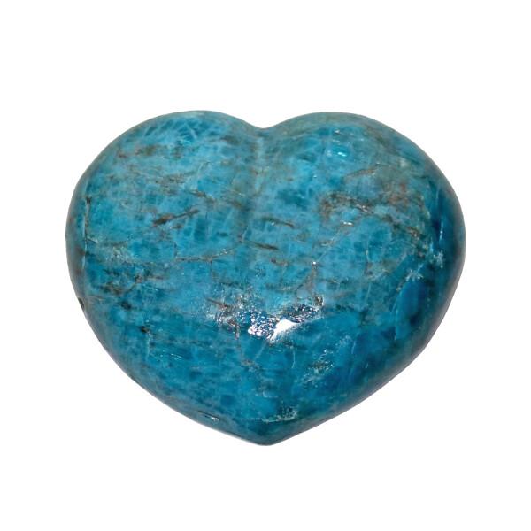"Closeup photo of Blue Apatite Heart 3"""
