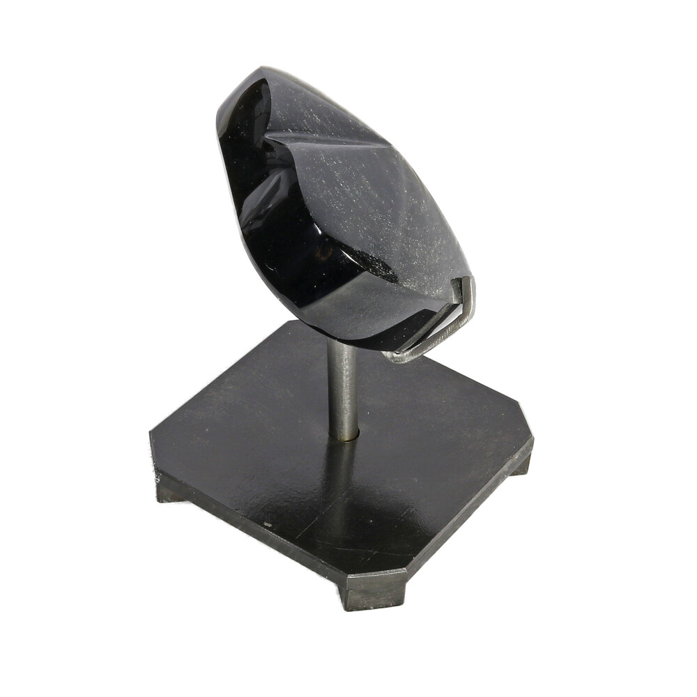 Image 2 for Silver Sheen Obsidian Heart In Custom Stand