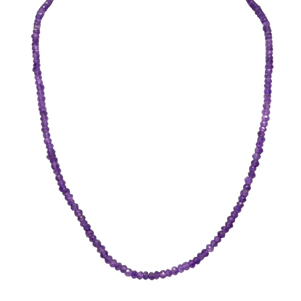 Amethyst Beaded Chain -Single Strand