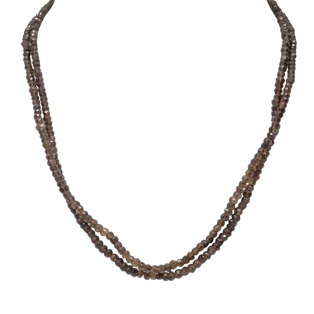 Smoky Quartz Beaded Chain -Double Strand