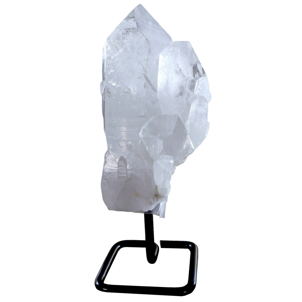 Image 2 for Quartz Point Cluster On Rounded Square Post Stand