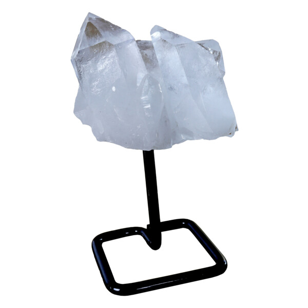 Closeup photo of Quartz Point Cluster On Post Stand