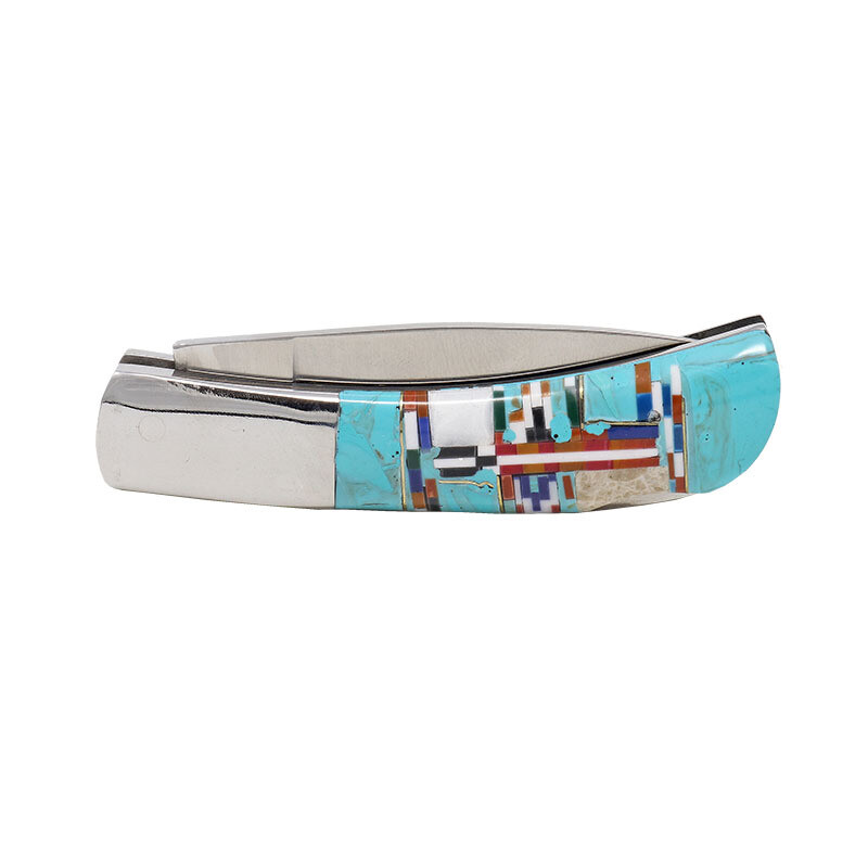 Inlaid Pocket Knife -Double Sided Inlay 3 Inch
