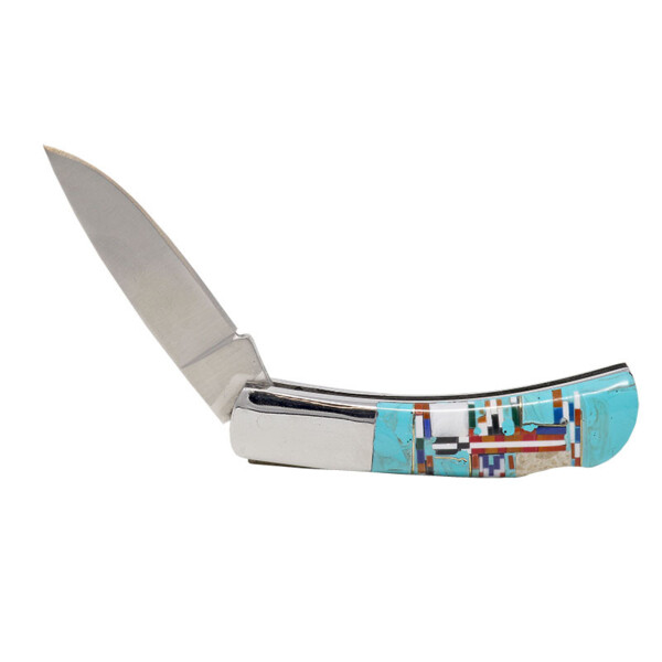 Closeup photo of Inlaid Pocket Knife -Double Sided Inlay 3 Inch