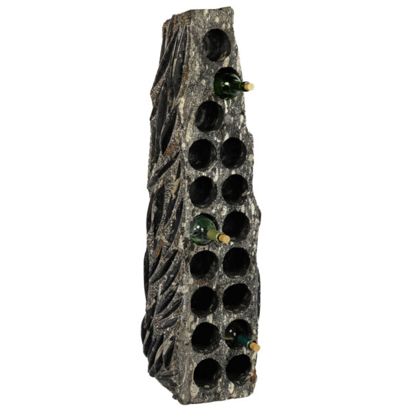 Closeup photo of Orthoceras Wine Rack