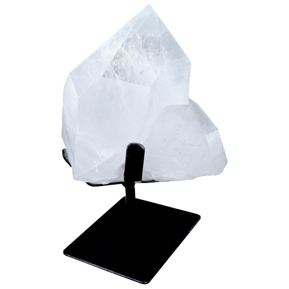 Quartz Point On Fitted Metal Stand -Unpolished