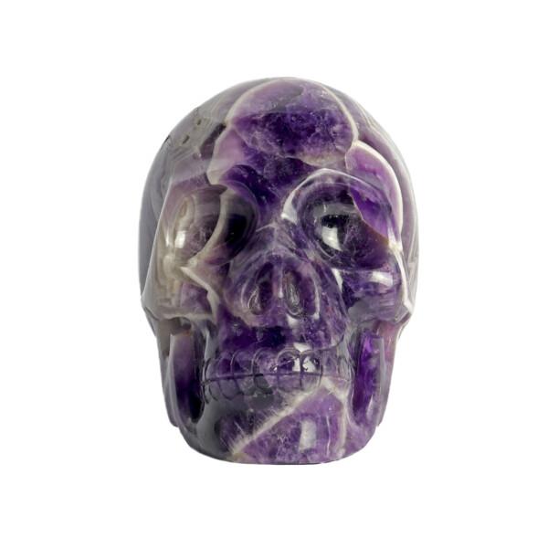Closeup photo of Chevron Amethyst Skull Medium