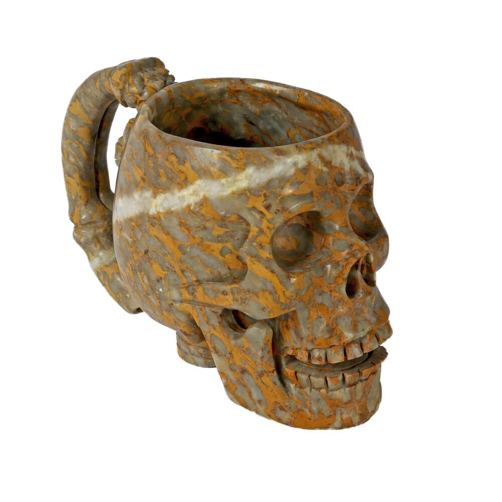 Image 2 for Brecciated Jasper Skull Mug