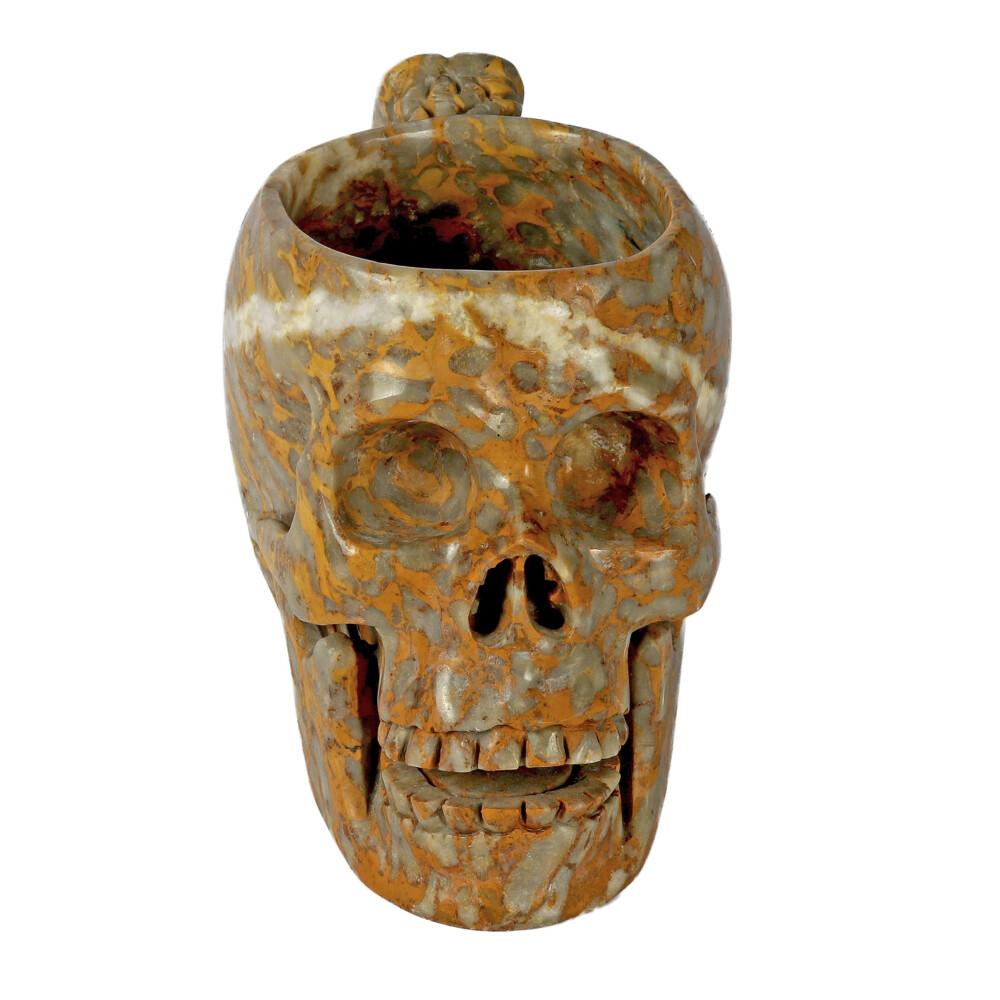 Brecciated Jasper Skull Mug
