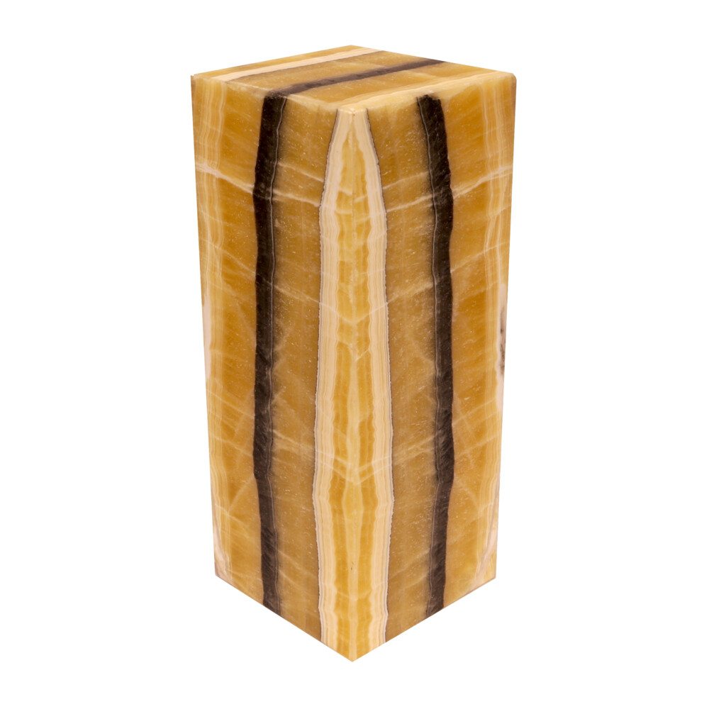 Onyx Luminary - 6'' Sq X 15'' Yellow & Black
