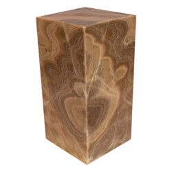 "Closeup photo of Onyx Luminary - 6"" Sq. X 12"" Brown"