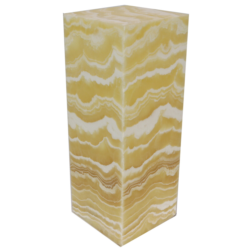 Onyx Luminary - 6'' Sq. X 16'' Amber