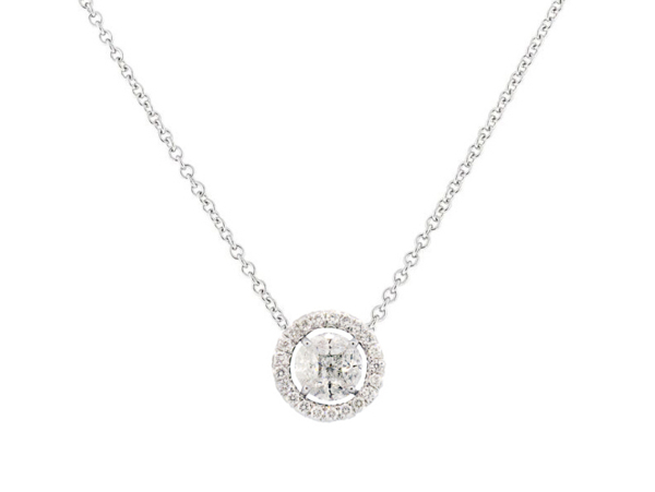 Closeup photo of SLOANE STREET MARQUIS WHITE DIAMOND PENDANT, WHITE DIAMOND JACKET, 18K-WG