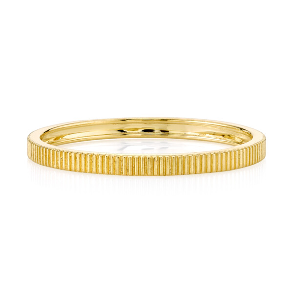 Closeup photo of SLOANE STREET STRIE STACKER BAND, 18K-YG