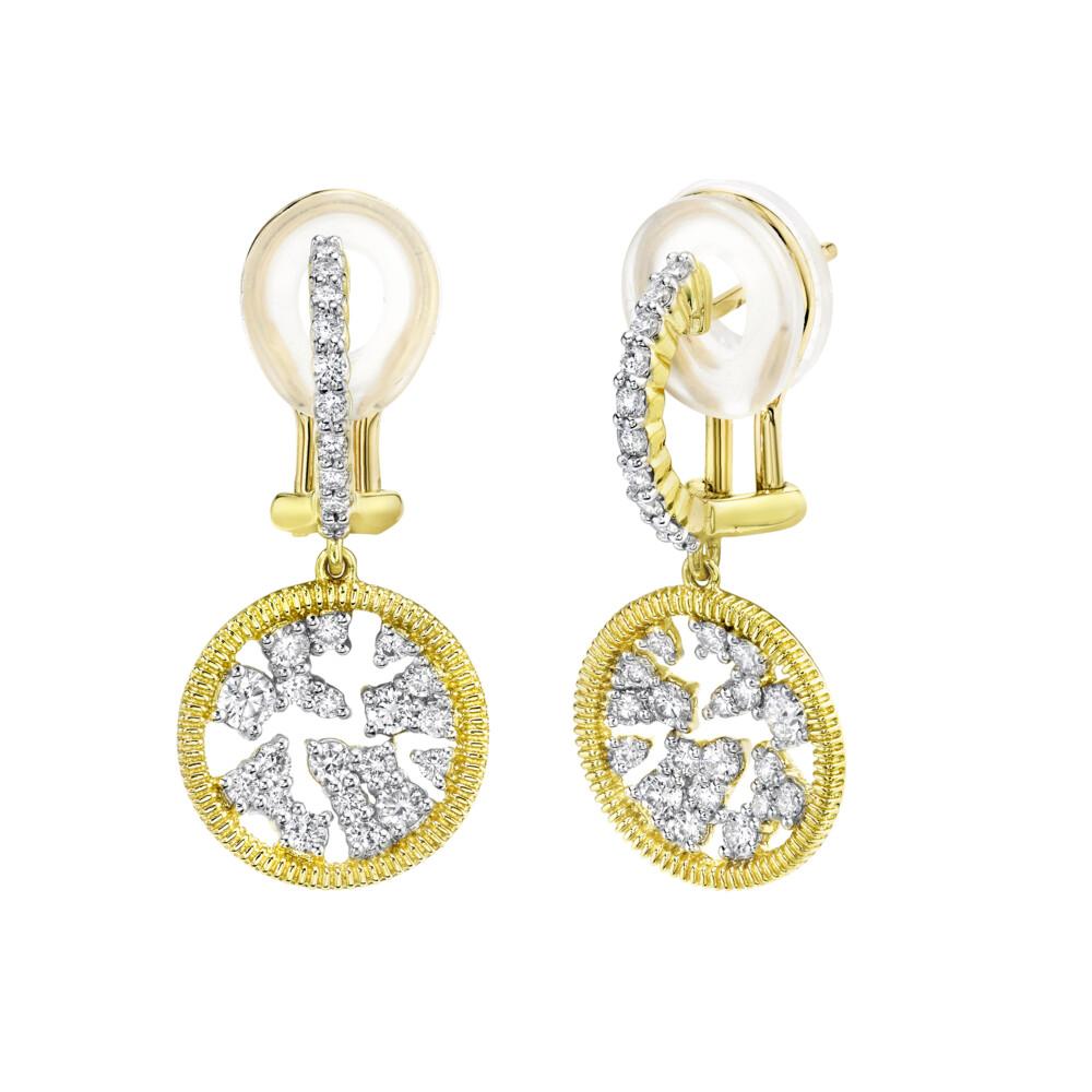 Diamond Celstial Small  Drop Earrings