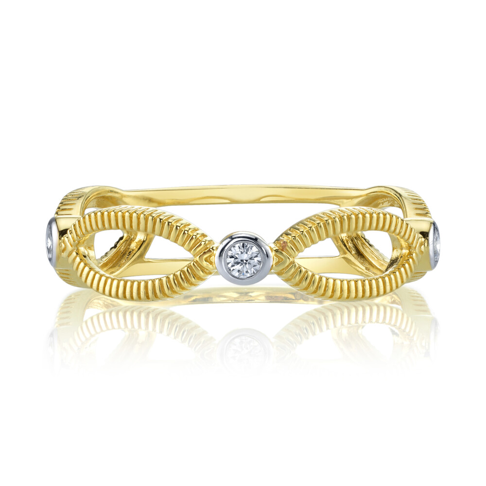 Open Marquis Ring With  Diamonds
