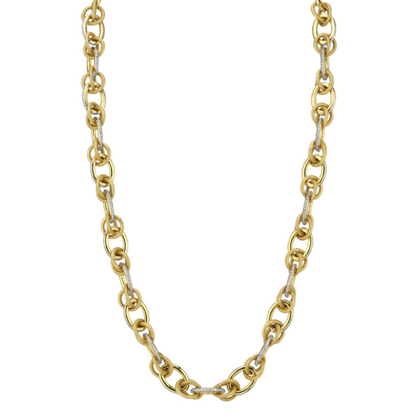 Closeup photo of SLOANE STREET WHITE DIAMOND CHAIN, 18K-RG