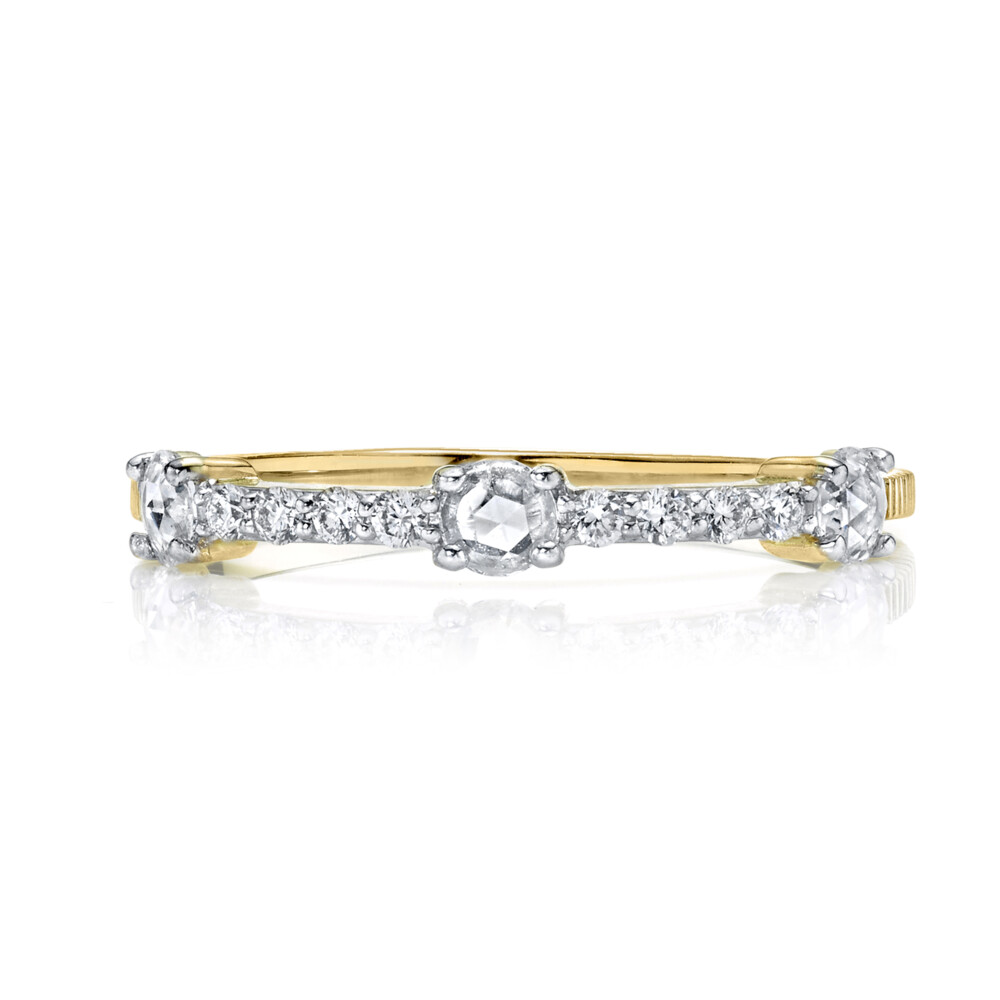 Rosecut Diamond Dainty Ring