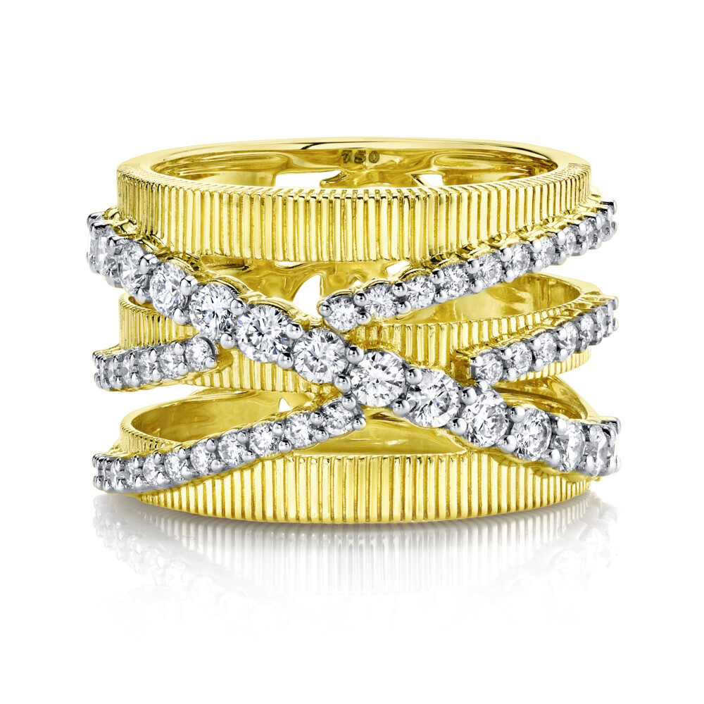 Double Diamond Crisscross Strie Band