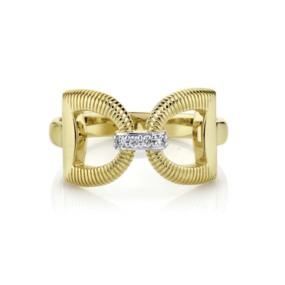 Horse Bit Ring With Diamonds