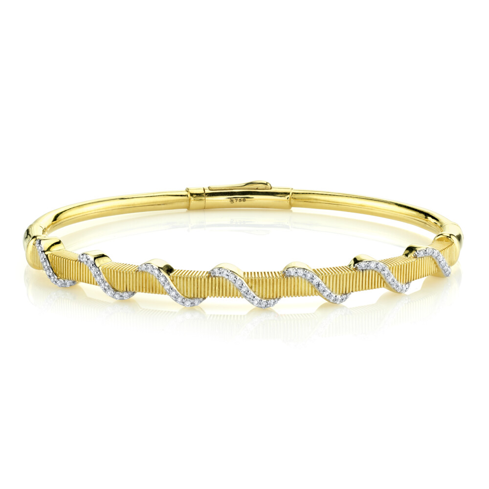 Diamond Wrapped Strie Bangle