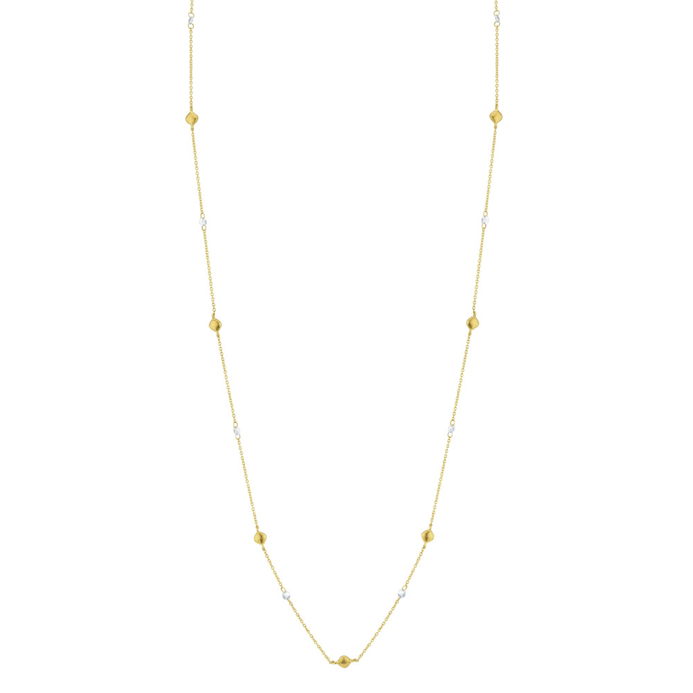 Long Chain With Rose Cut Diamonds